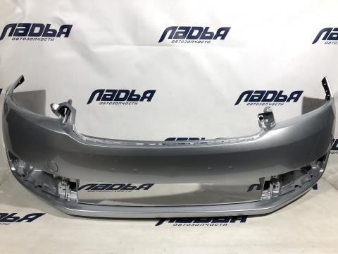 Бампер Skoda Rapid (12-20) передний Серебристый REFLEX 8E/ LA7W купить в Саратове цена