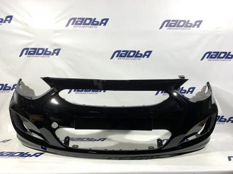 Бампер Hyundai Solaris(10-) передний Черный (MZH) купить в Саратове цена