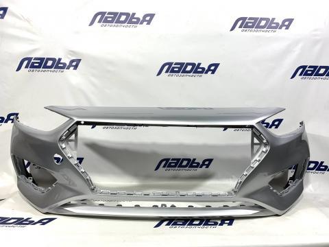 Бампер Hyundai Solaris(17-) передний Серебристый RHM купить в Саратове цена