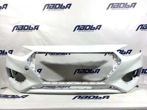 Бампер Hyundai Solaris(17-) передний Белый PGU купить в Саратове цена
