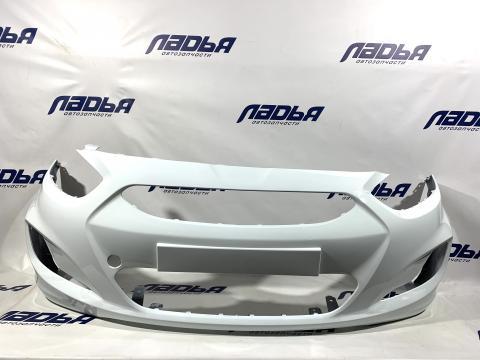Бампер Hyundai Solaris(10-) передний Белый (PGU) купить в Саратове цена